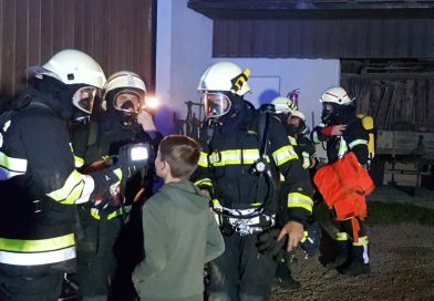 Brandübung in Hafning
